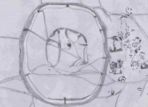 Malhat ed-Deru - Structure vue du ciel
