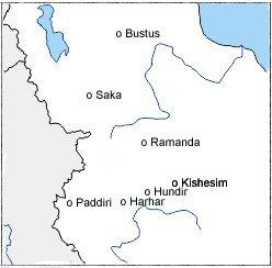 Quelques villes de la 6e campagne de Sargon II